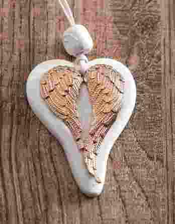 Μπομπονιέρα γάμου καρδιά με φτερά 21023