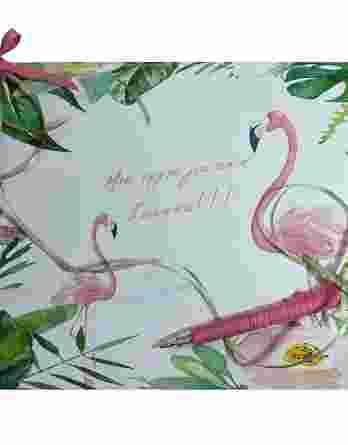 Βιβλίο ευχών Φλαμίνγκο (flamingo) 20042b
