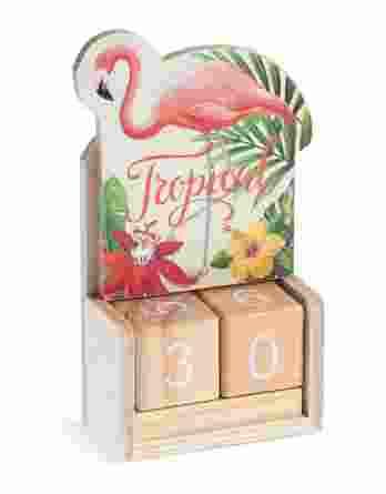 Μπομπονιέρα βάπτισης Ημερολόγιο Flamingo 22053