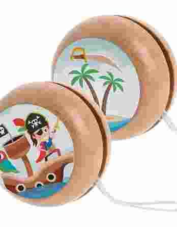 Μπομπονιέρα βάπτισης Ξύλινο yo-yo Πειρατής 23064