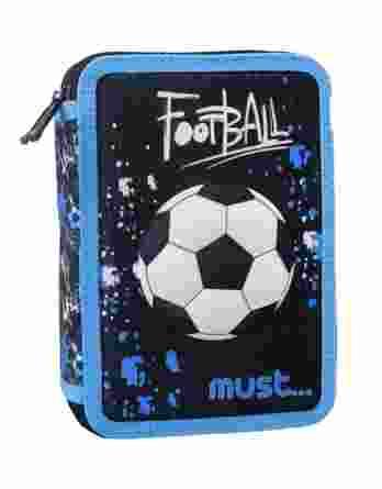 Κασετίνα 3d διπλή γεμάτη Must football