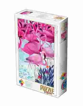 Παζλ Tropical Flamingos Kurti Andrea D-Toys 1000Τεμ. 72887-02