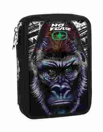 BMU Κασετίνα Διπλή Γεμάτη No Fear Gorilla 347-69100