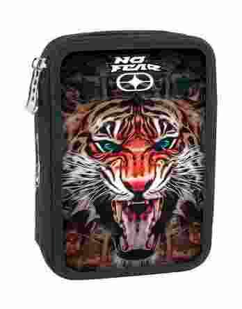 BMU Κασετίνα Διπλή Γεμάτη No Fear India Tiger 347-76100