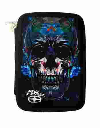 BMU Κασετίνα Διπλή Γεμάτη No Fear Glass Skull 347-81100