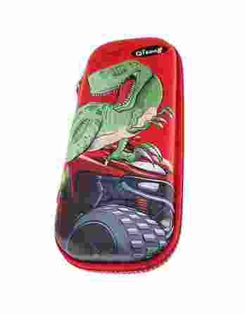 Κασετίνα Οβάλ Graffiti 3D Dinosaur Κόκκινη 200222