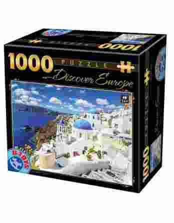 Παζλ Discover Europe Santorini D-Toys 1000Τεμ. 65995-06