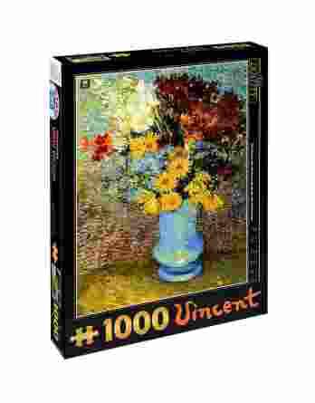 Παζλ Flowers in a Blue Vase Vincent Van Gogh D-Toys 1000Τεμ. 66916-02