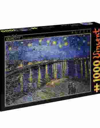 Παζλ Starry Night Over The Rhone Vincent Van Gogh D-Toys 1000Τεμ. 66916-11