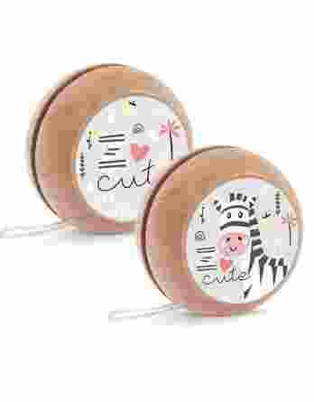 Μπομπονιέρα βάπτισης Ξύλινο yo-yo Ζέβρα 22078