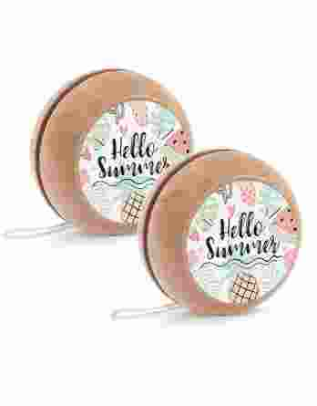 Μπομπονιέρα βάπτισης Ξύλινο yo-yo Hello Summer 22085
