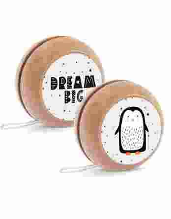 Μπομπονιέρα βάπτισης Ξύλινο yo-yo Πιγκουίνος 23099